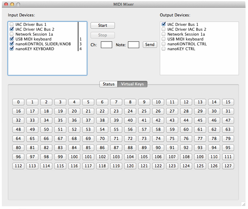 MIDI Mixer - Mac OS X App to Combine MIDI Commands from Different