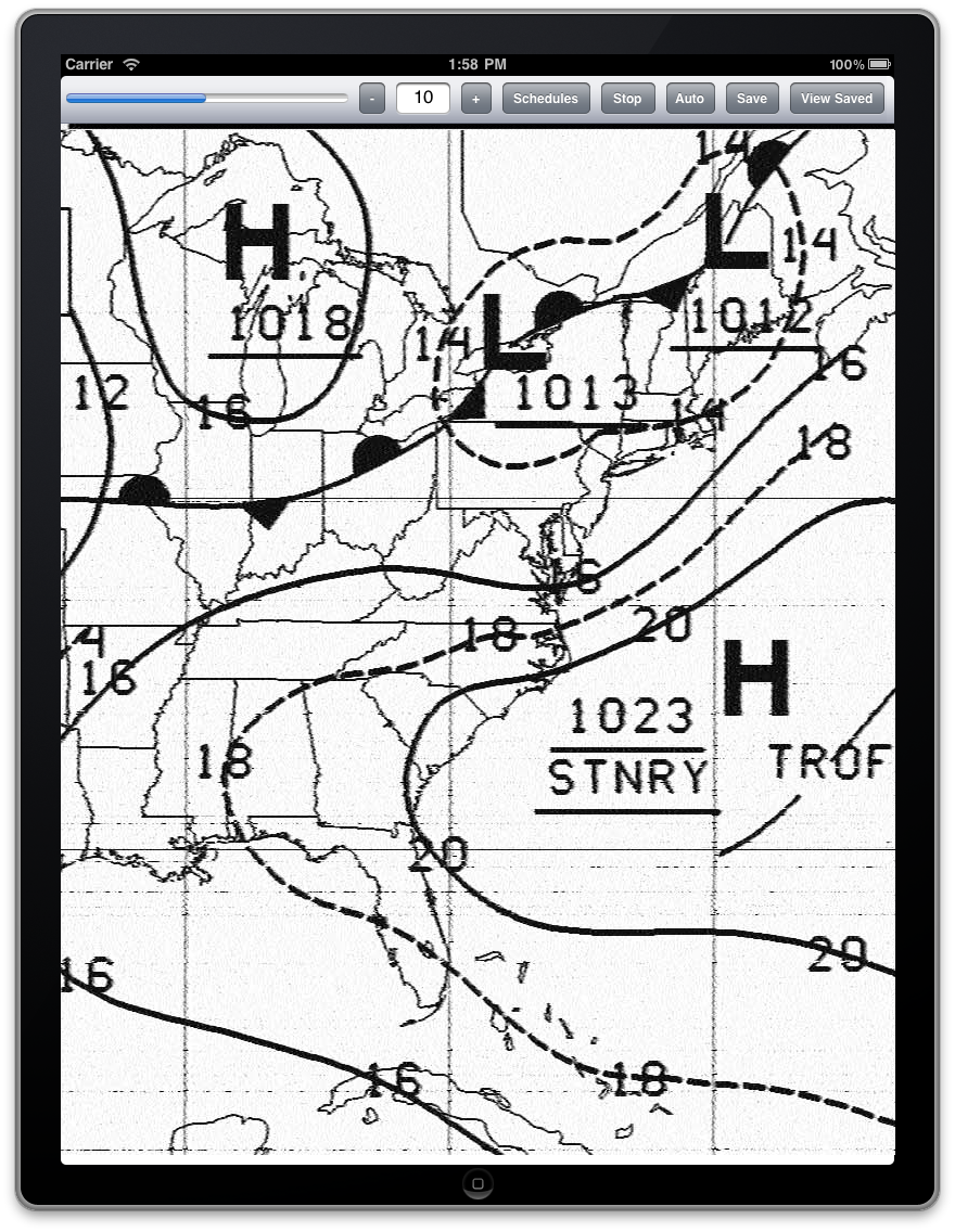 Marine Weather Map.Hf Weather Fax Marine Radio Fascimile Decoder App